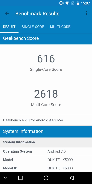 OUKITEL K5000 Benchmarks 1