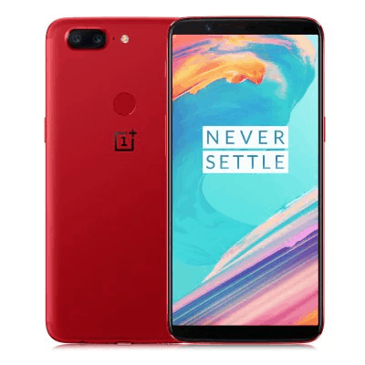 Lava Red OnePlus 5T with 8GB of RAM