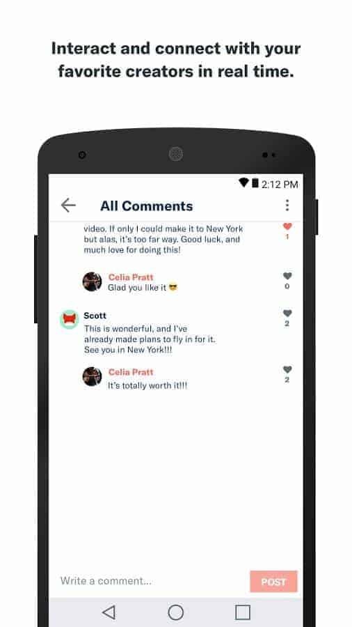 Patreon App Google Play Screenshot 03