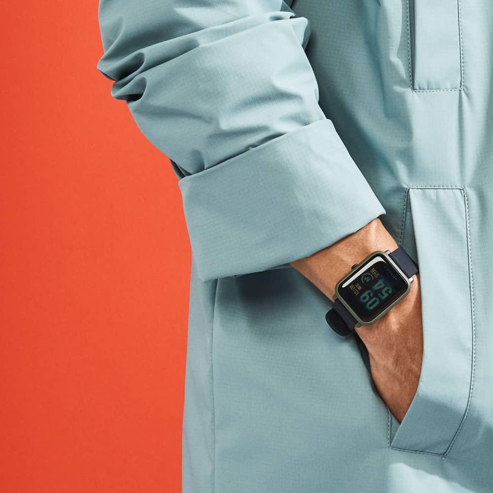amazfit bip smartwatch kokoda green trench coat