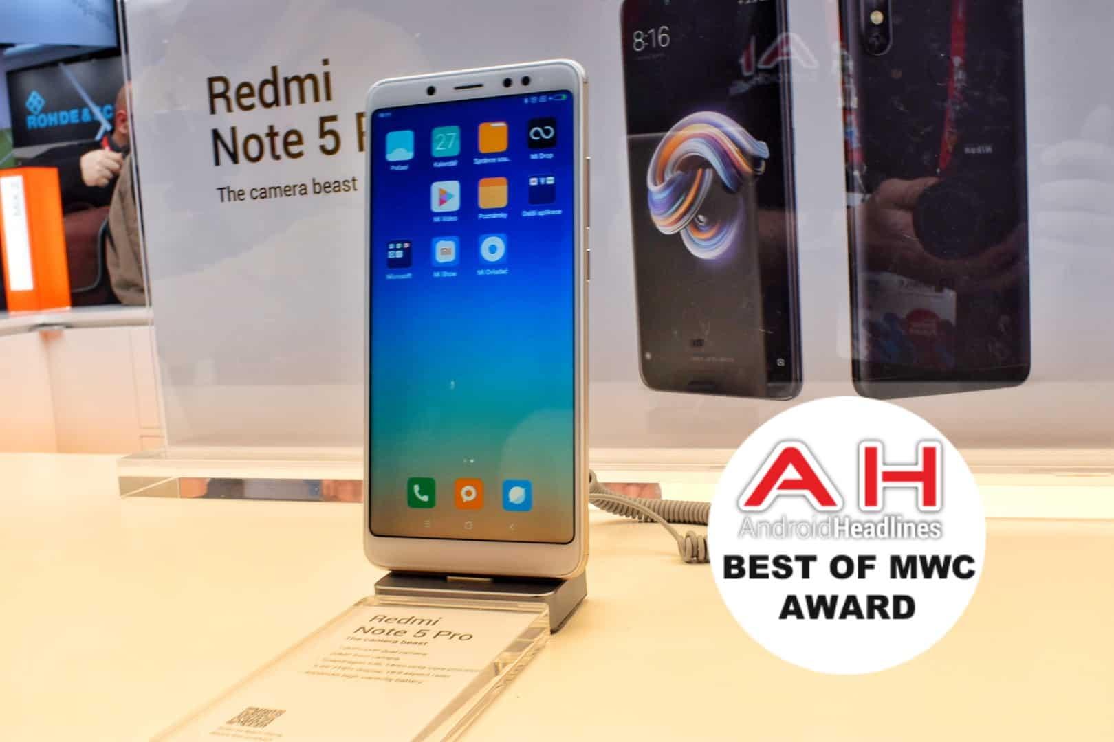 AH Xiaomi Redmi Note 5 Pro best of MWC 2018 award 3