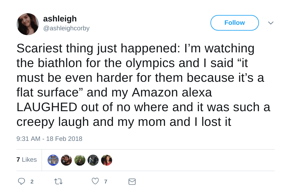 Alexa Laughing Randomly Tweet from Twitter 04