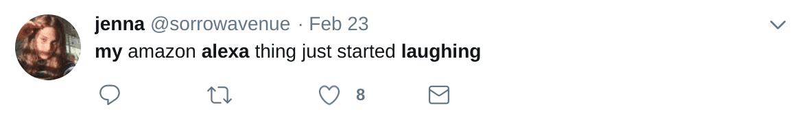 Alexa Laughing Randomly Tweet from Twitter Search 02