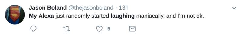 alexa laughing randomly