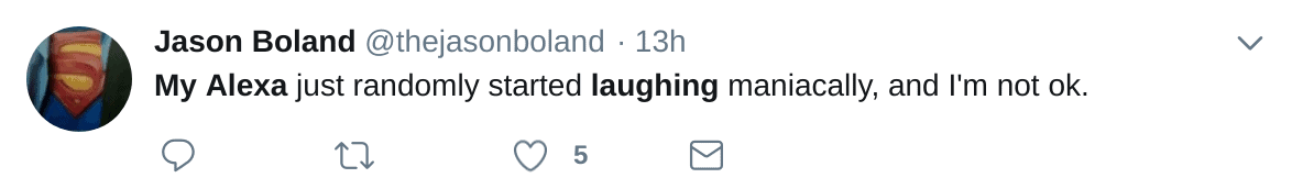 Alexa Laughing Randomly Tweet from Twitter Search 03