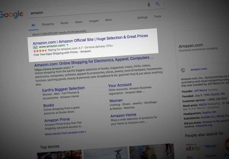 Google Briefly Hosts Fake Amazon Result For Second Time