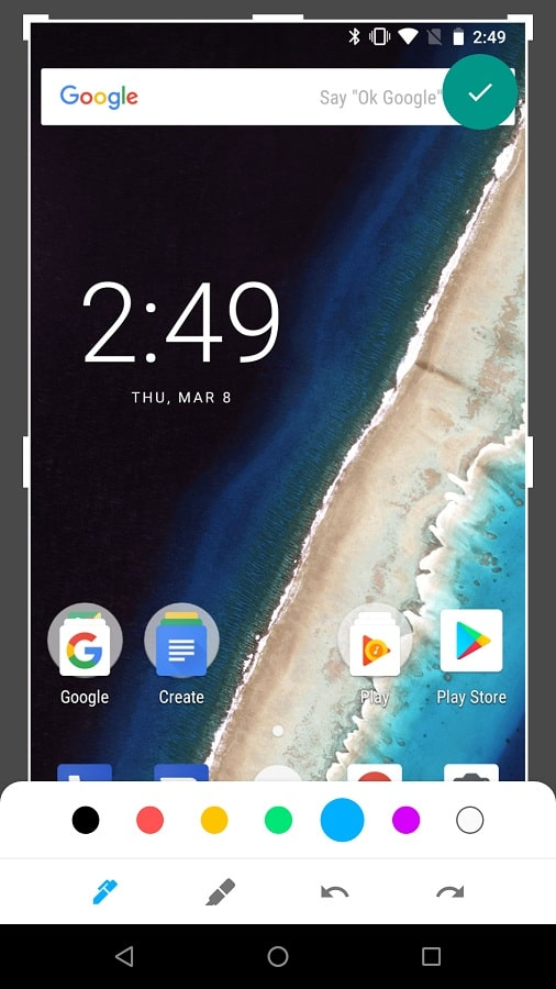 Android P Editing Screenshot 1