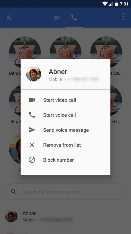 Google Duo voice message early 01