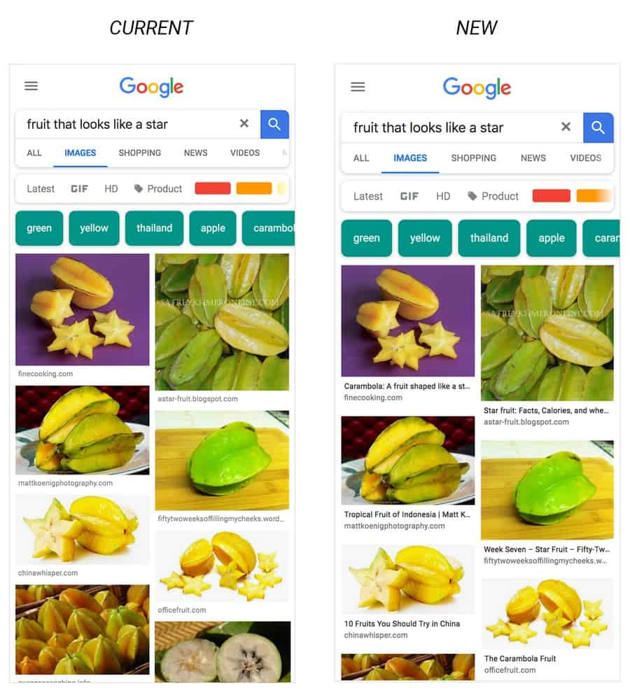 Google Adding Captions To Image Search Results On Mobile