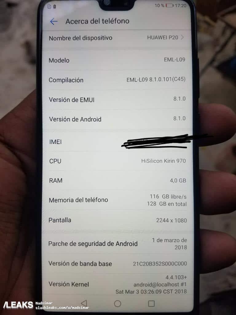 Huawei P20 real life image leak 125