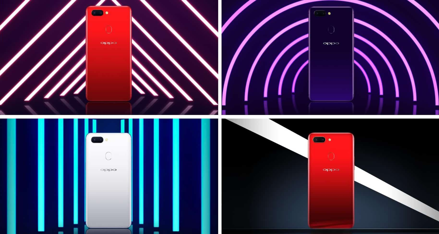 OPPO R15 official renders four 1