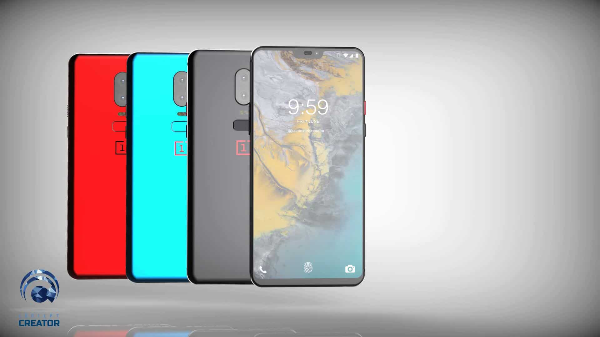 New OnePlus 6 Concept Sports A Notch, Thin Bezels: Video ... Oneplus 6