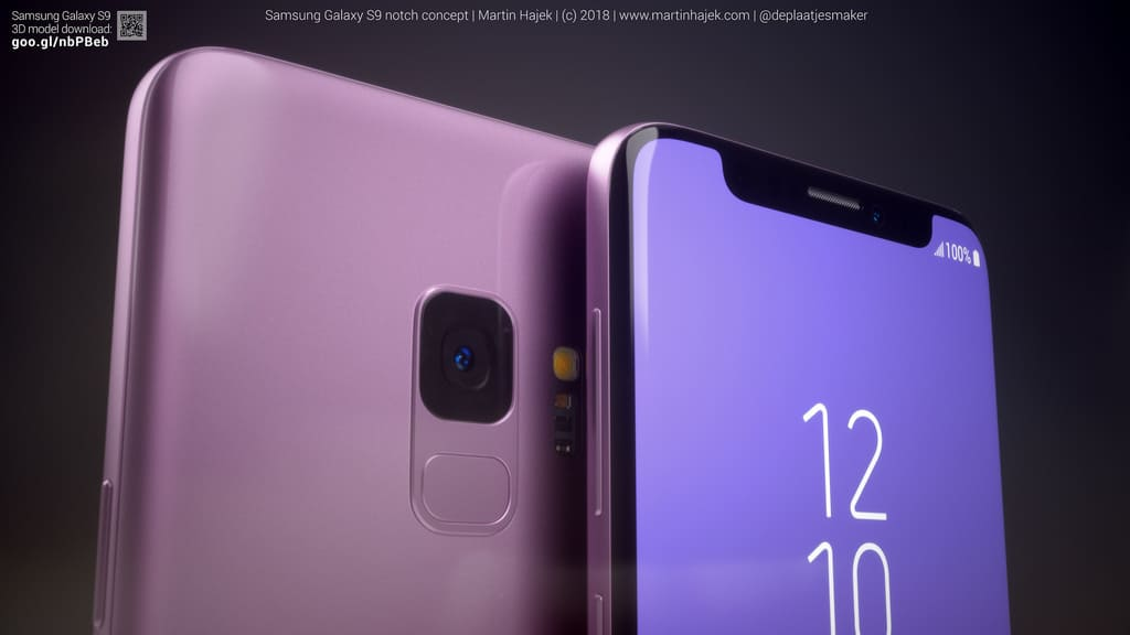 New Concept Renders Show Notch-Equipped Samsung Galaxy S9 ...