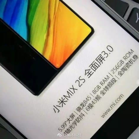 Xiaomi Mi MIX 2S To Feature 8GB Of RAM, Ceramic Build: Leak