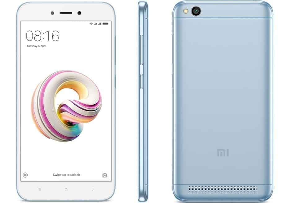 Xiaomi Launches Lake Blue Redmi 5A Variant In India