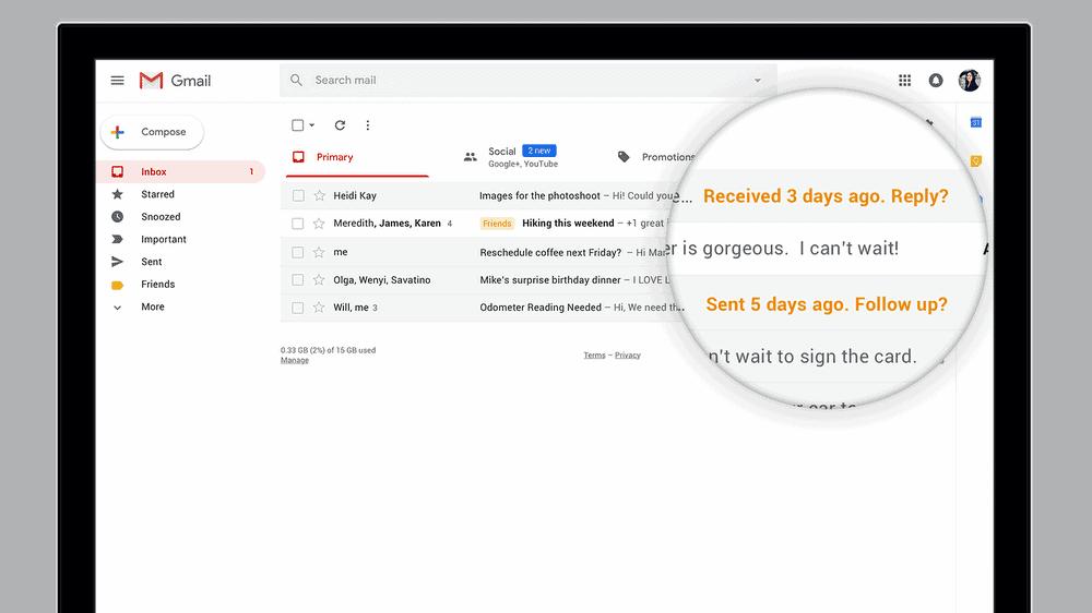 Google Gmail April 2018 Redesign 1