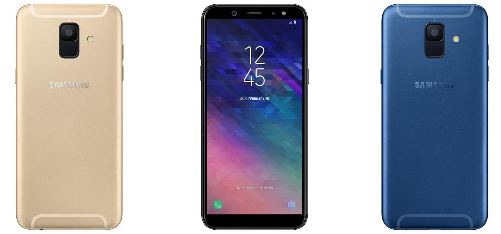 samsung galaxy a6 mid range lineup leaks in official renders. Black Bedroom Furniture Sets. Home Design Ideas