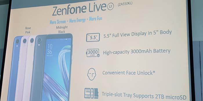 ASUS Zenfone Live L1 Key Sell