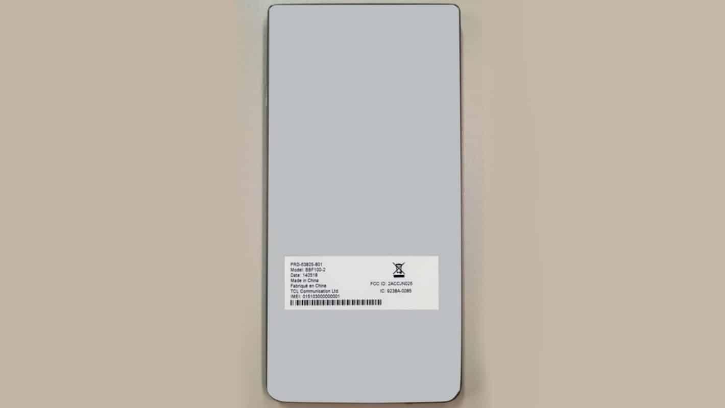BBF100 2 FCC BlackBerry Key2 May 2018