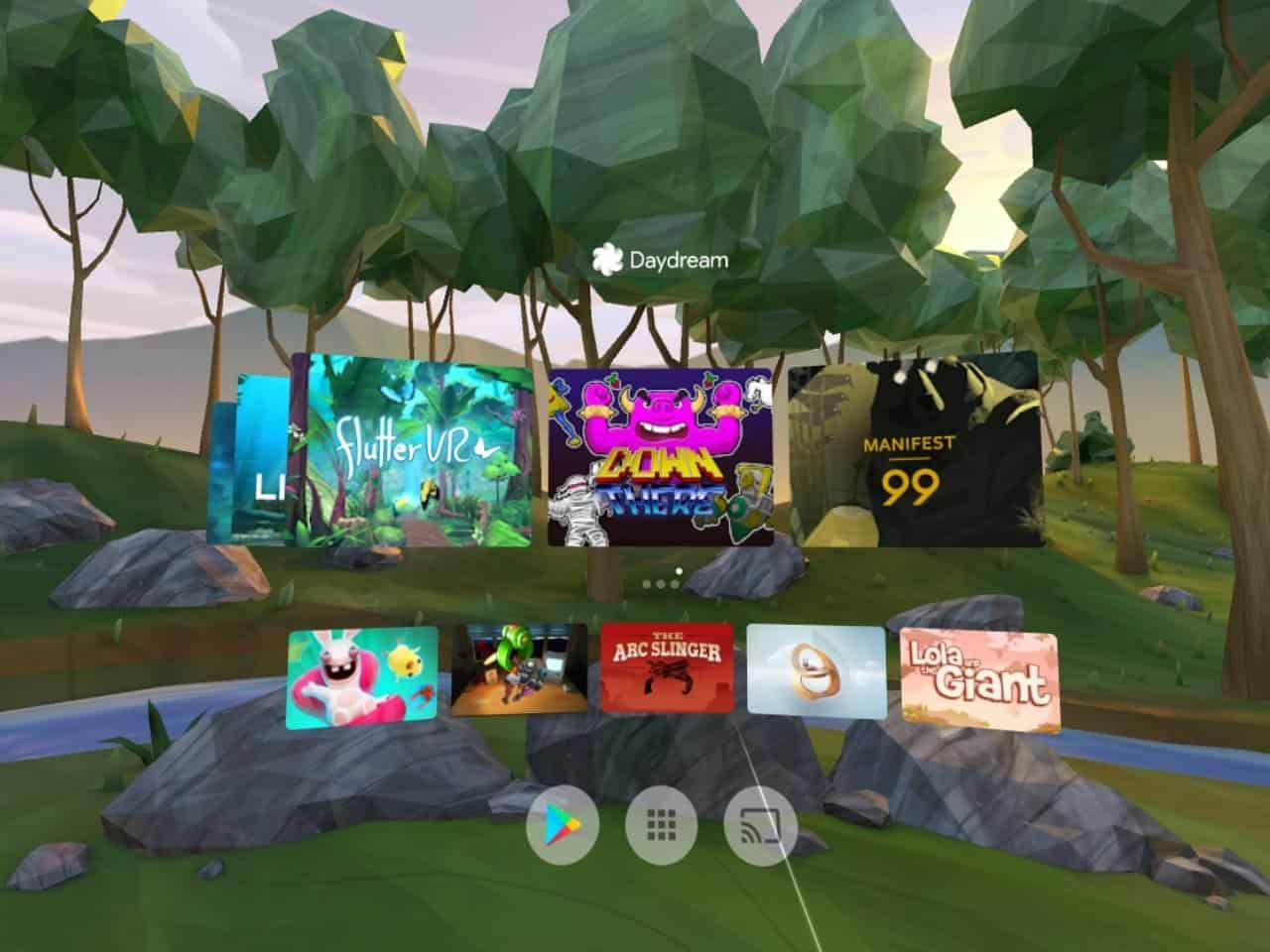 Google Daydream AH NS Screenshots dashboard