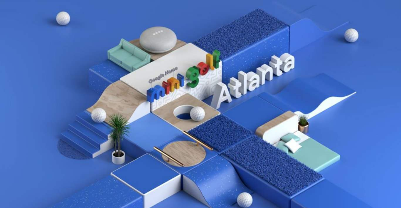 Google Home Mini Golf Event Banner from Google Event Facebook Page