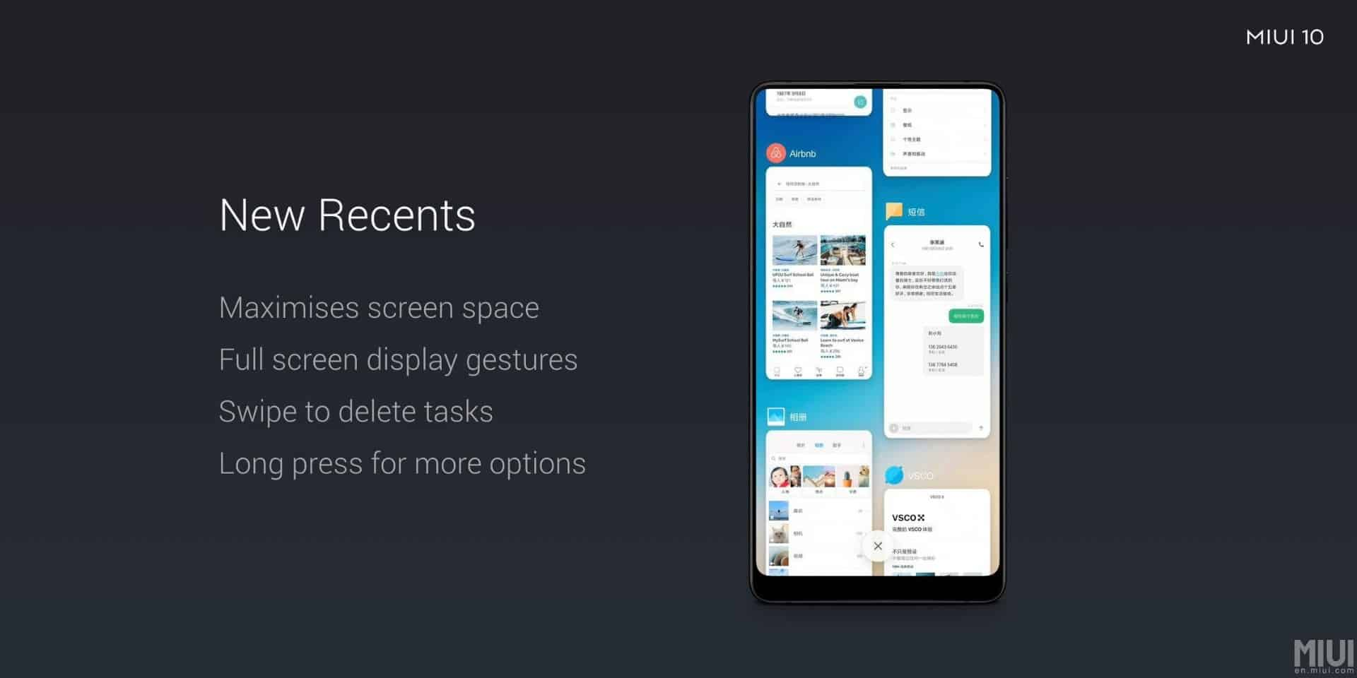 MIUI 10 announcement May 2018 2