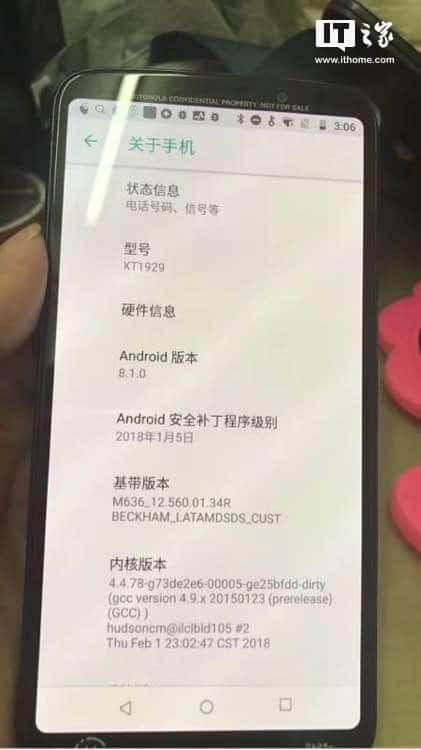 Moto Z3 Play real life leak 1
