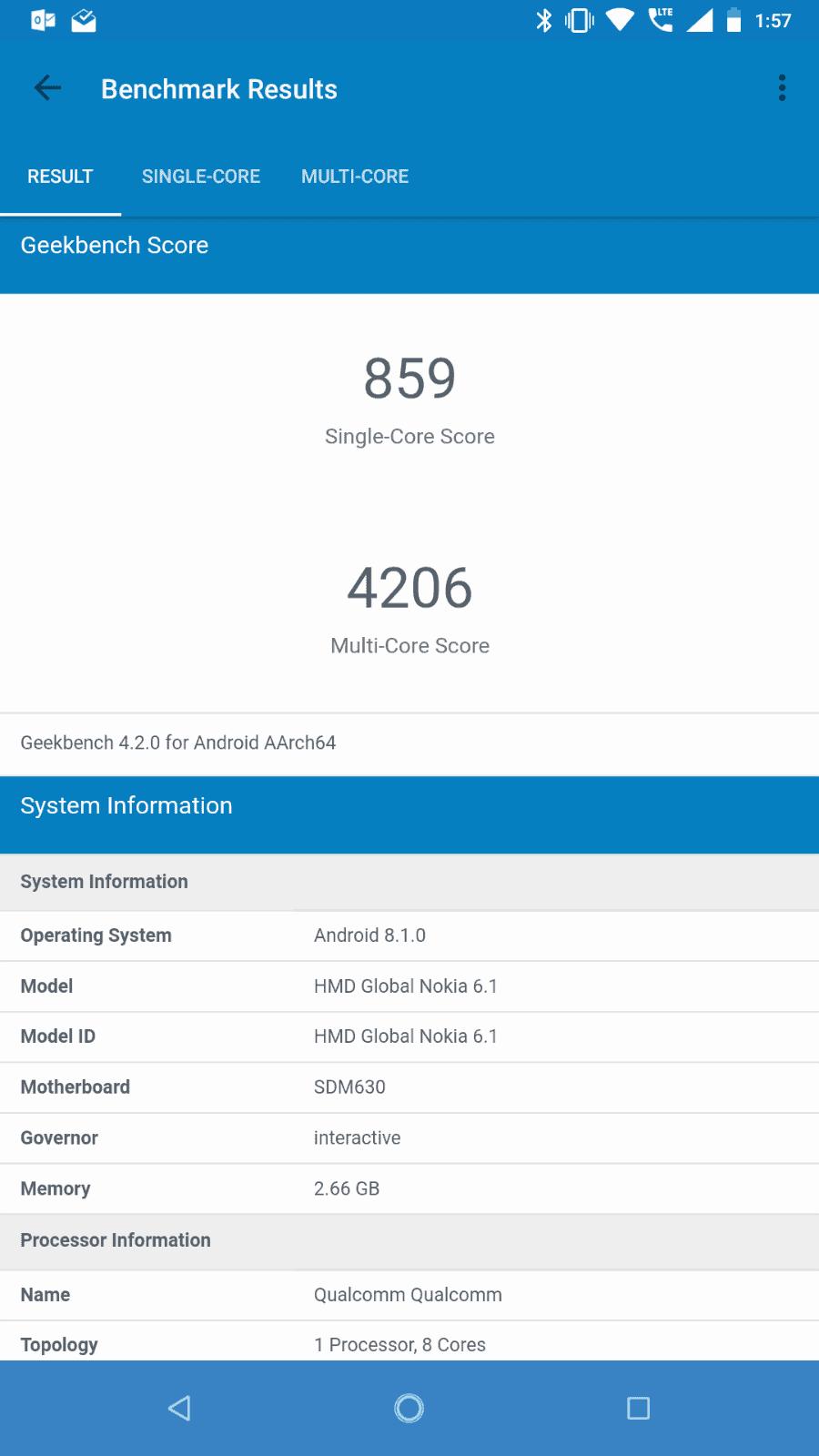 Nokia 6.1 Benchmarks 06
