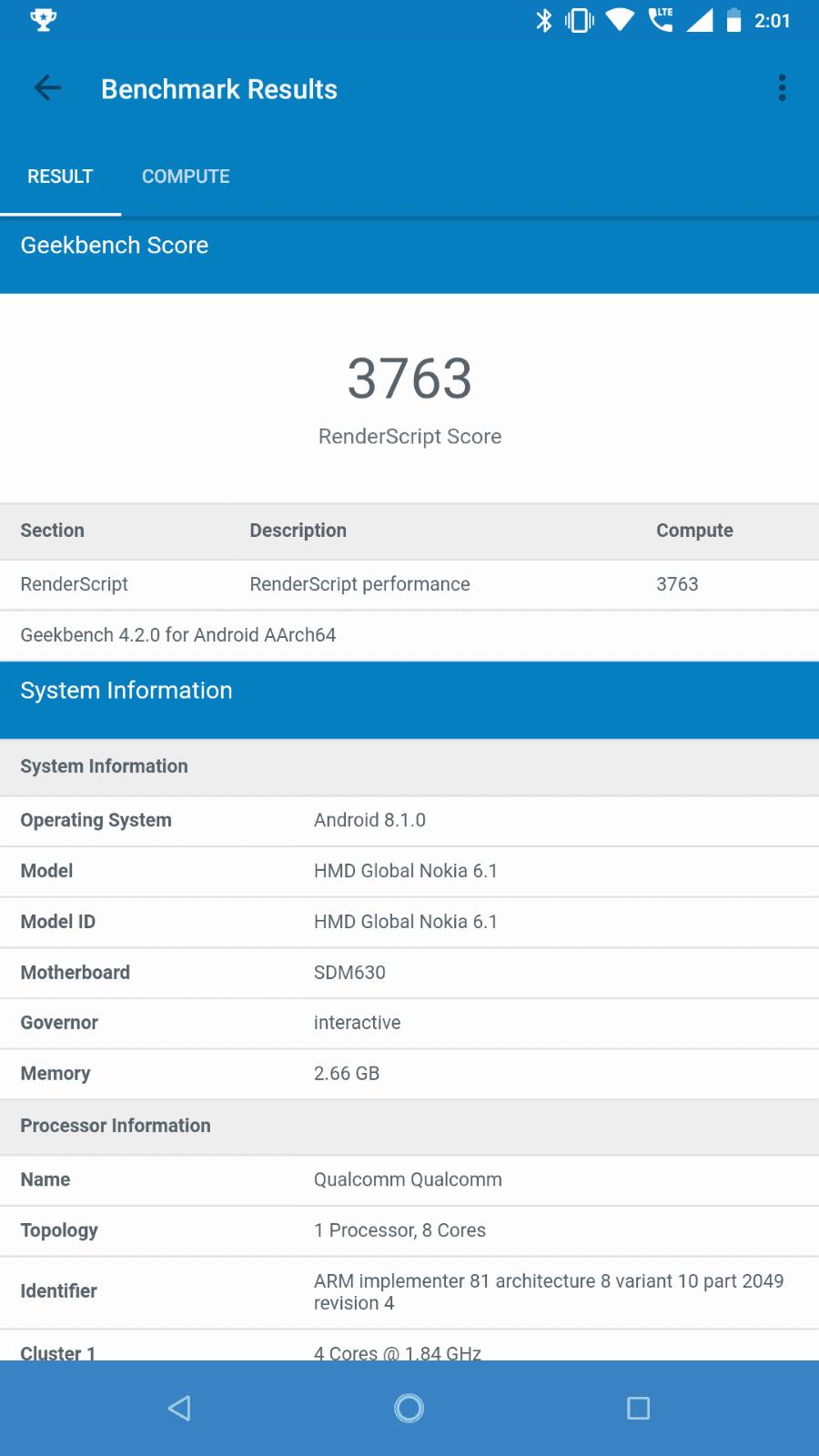 Nokia 6.1 Benchmarks 09