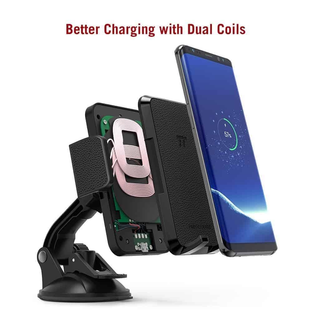 TaoTronics Qi charging smartphone holder 2