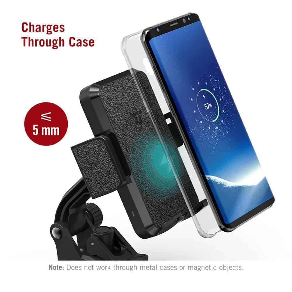 TaoTronics Qi charging smartphone holder 4