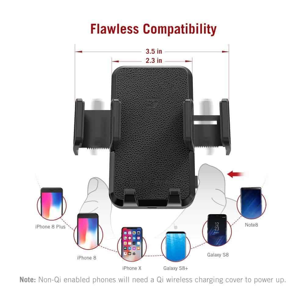 TaoTronics Qi charging smartphone holder 5