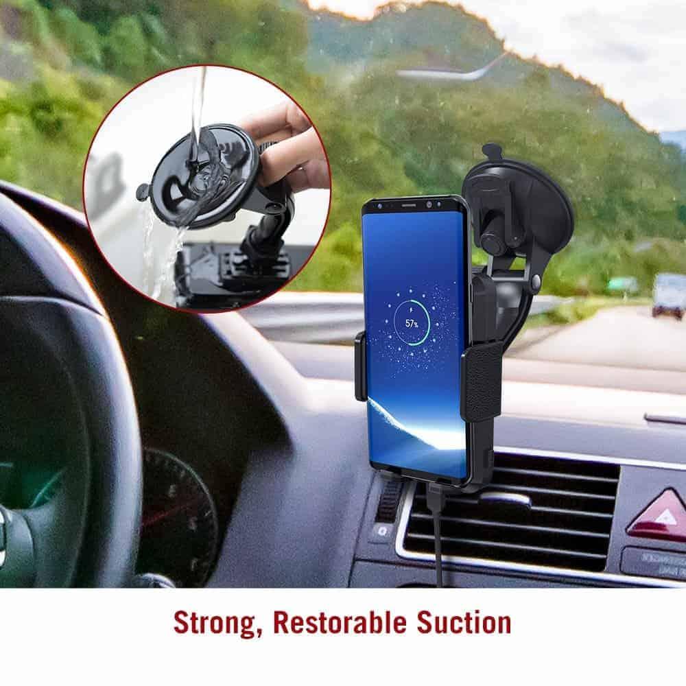 TaoTronics Qi charging smartphone holder 6