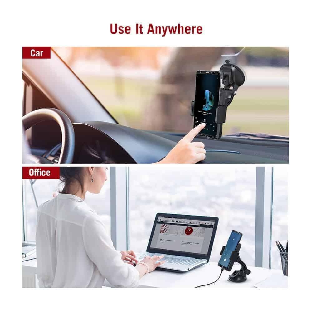 TaoTronics Qi charging smartphone holder 7