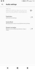 Xperia XZ2 AH NS Screenshots audio 01