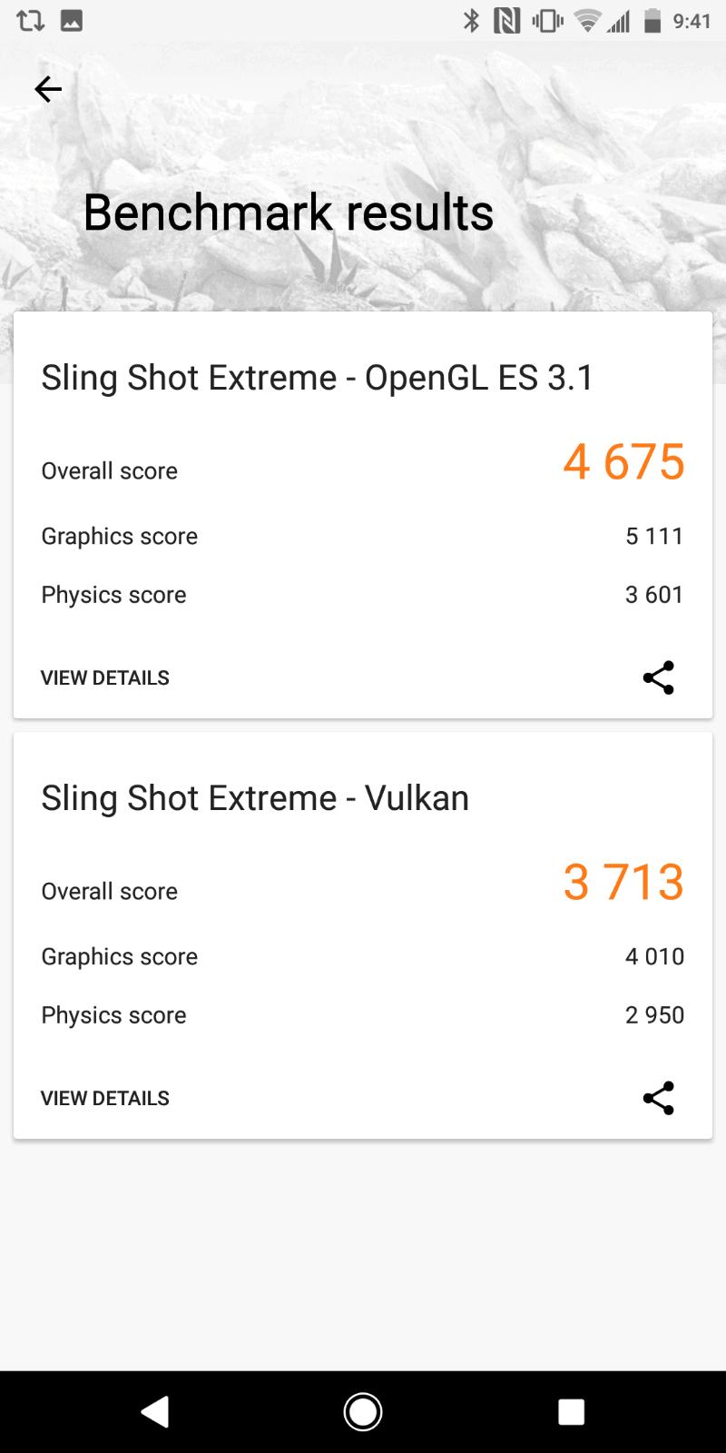 Xperia XZ2 AH NS Screenshots benchmarks 01