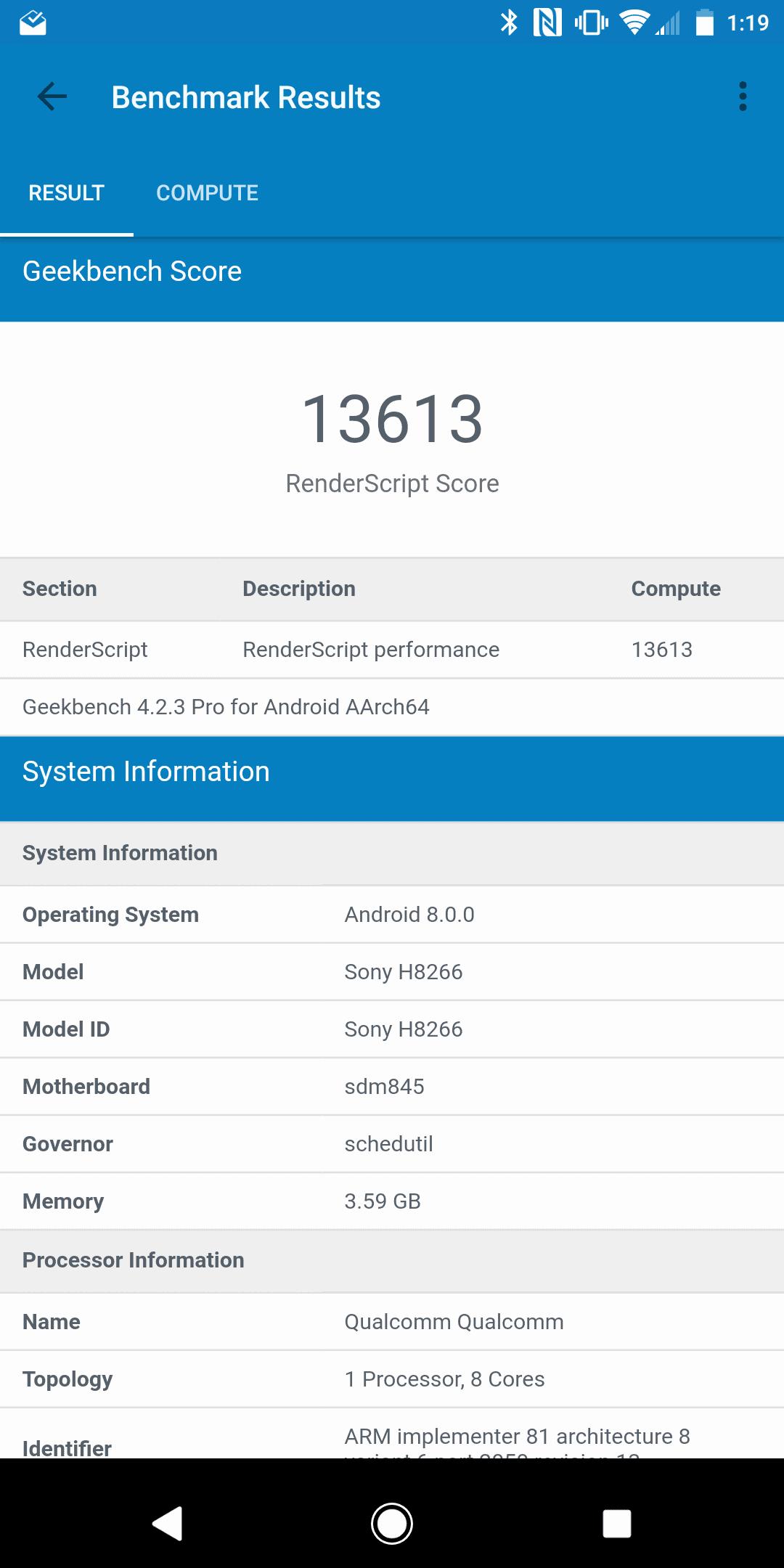 Xperia XZ2 AH NS Screenshots benchmarks 03