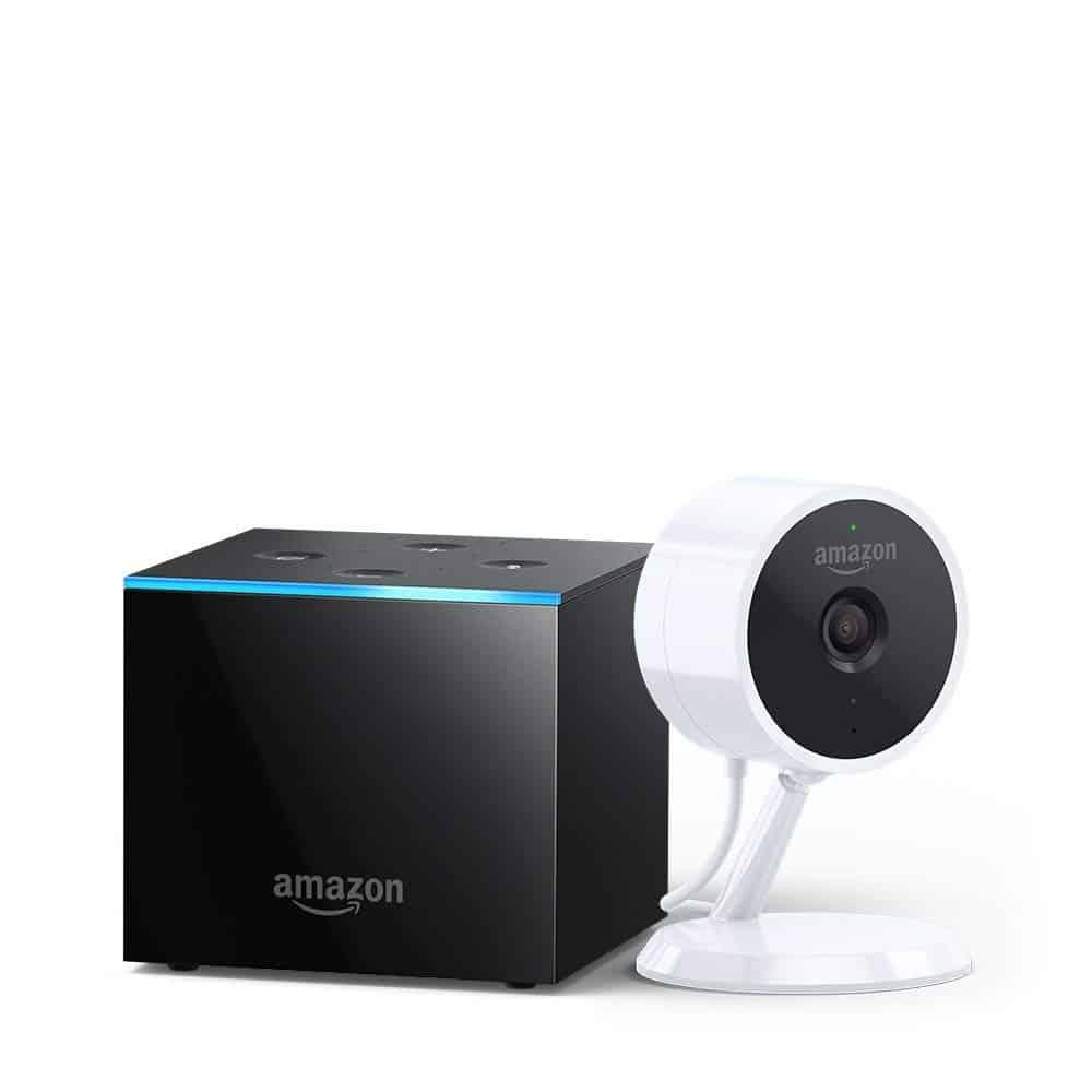Amazon Fire TV Cube + Cloud Cam Security Camera - (Amazon)