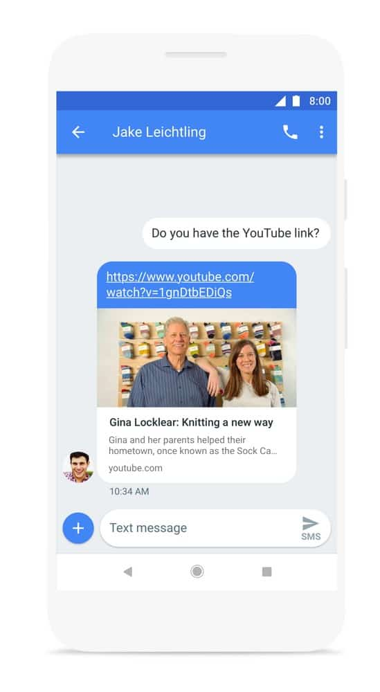 Android Messages Links In App Press Image