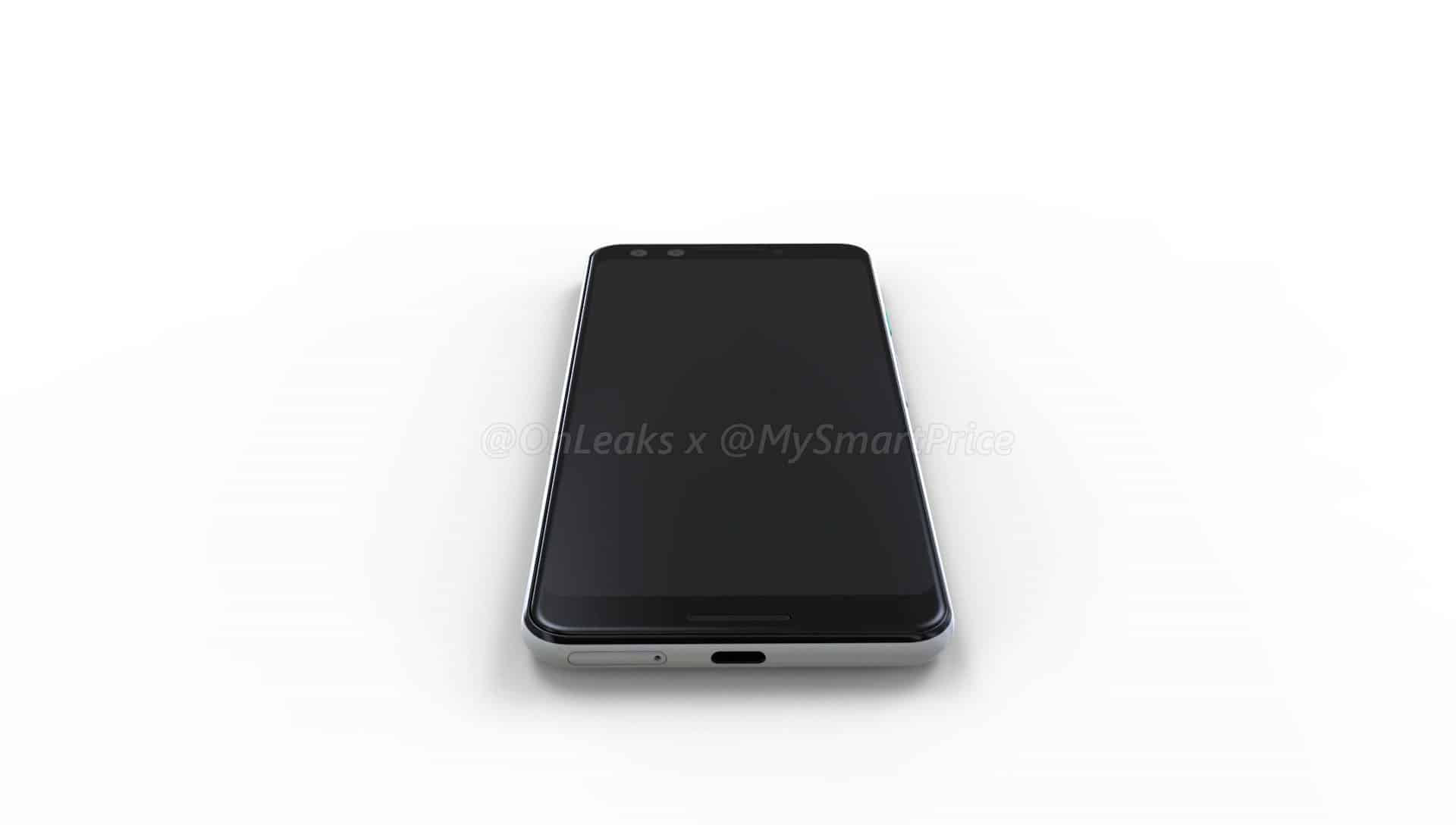 Pixel 3/ Pixel 3 XL leak with modern displays
