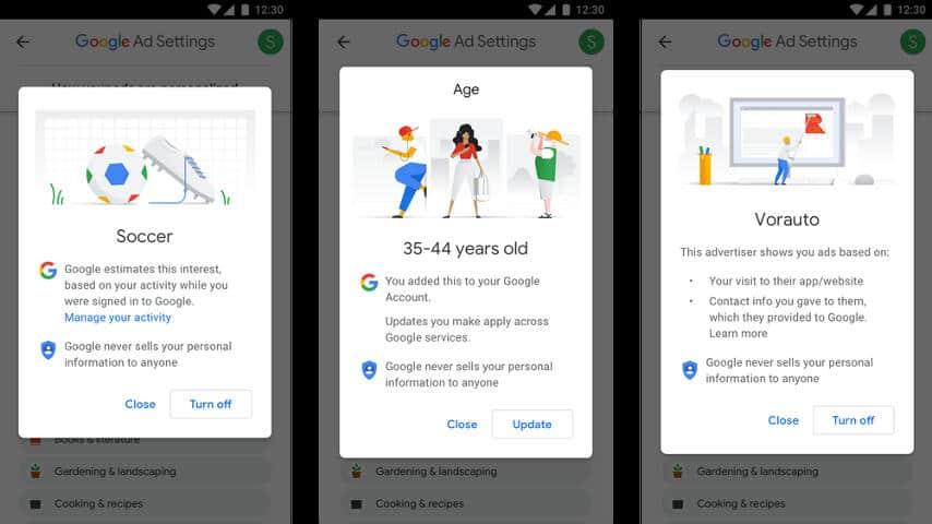 Google Ad Settings 2