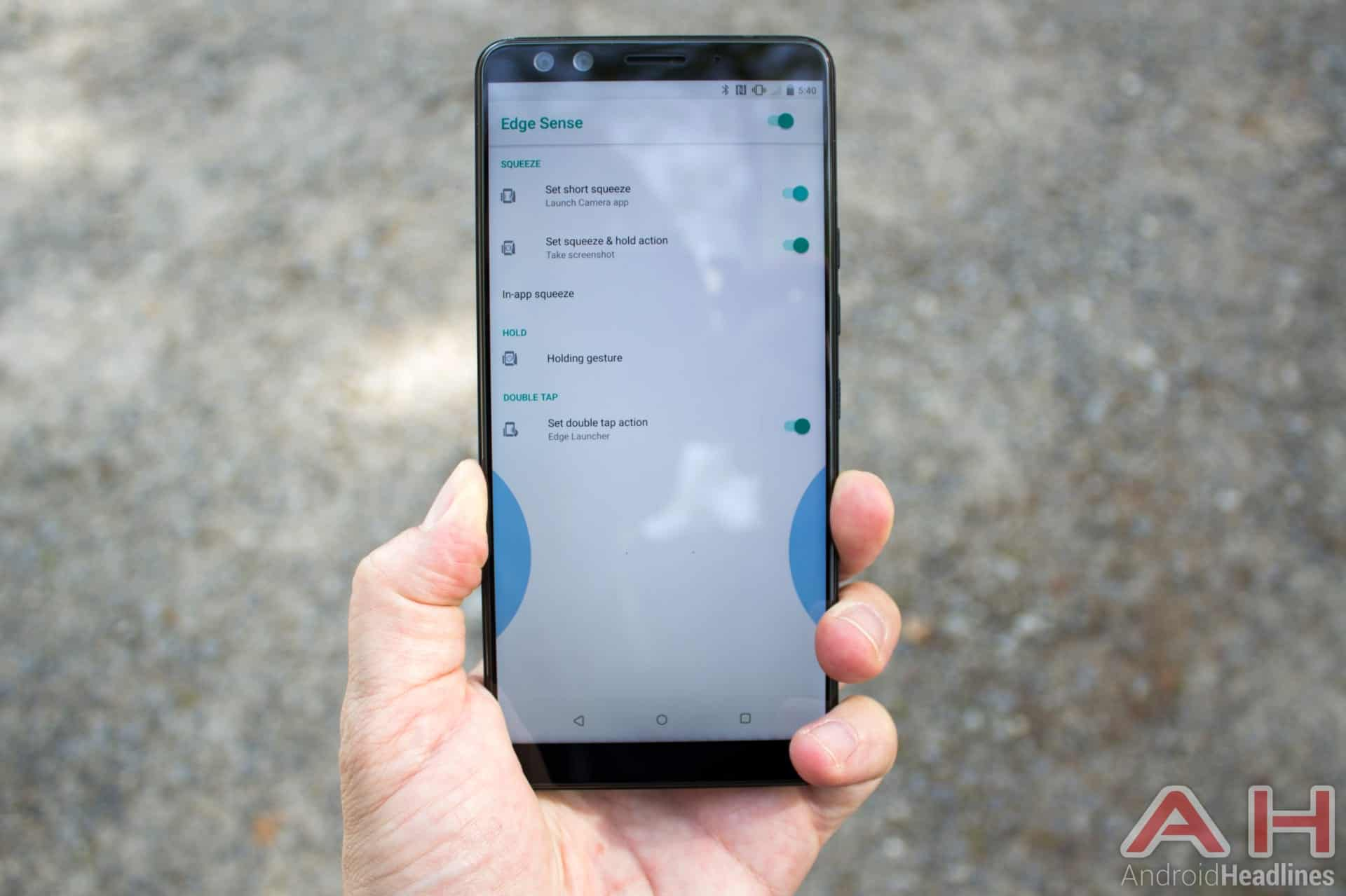 HTC U12 Plus AH NS 35 squeeze edge sense