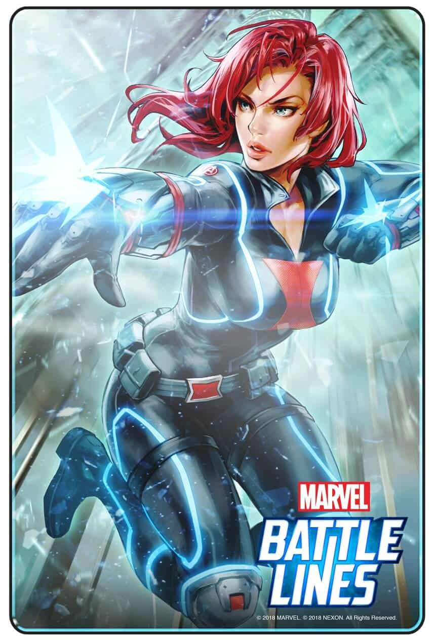 MARVEL BATTLE LINES PRCards BlackWidow