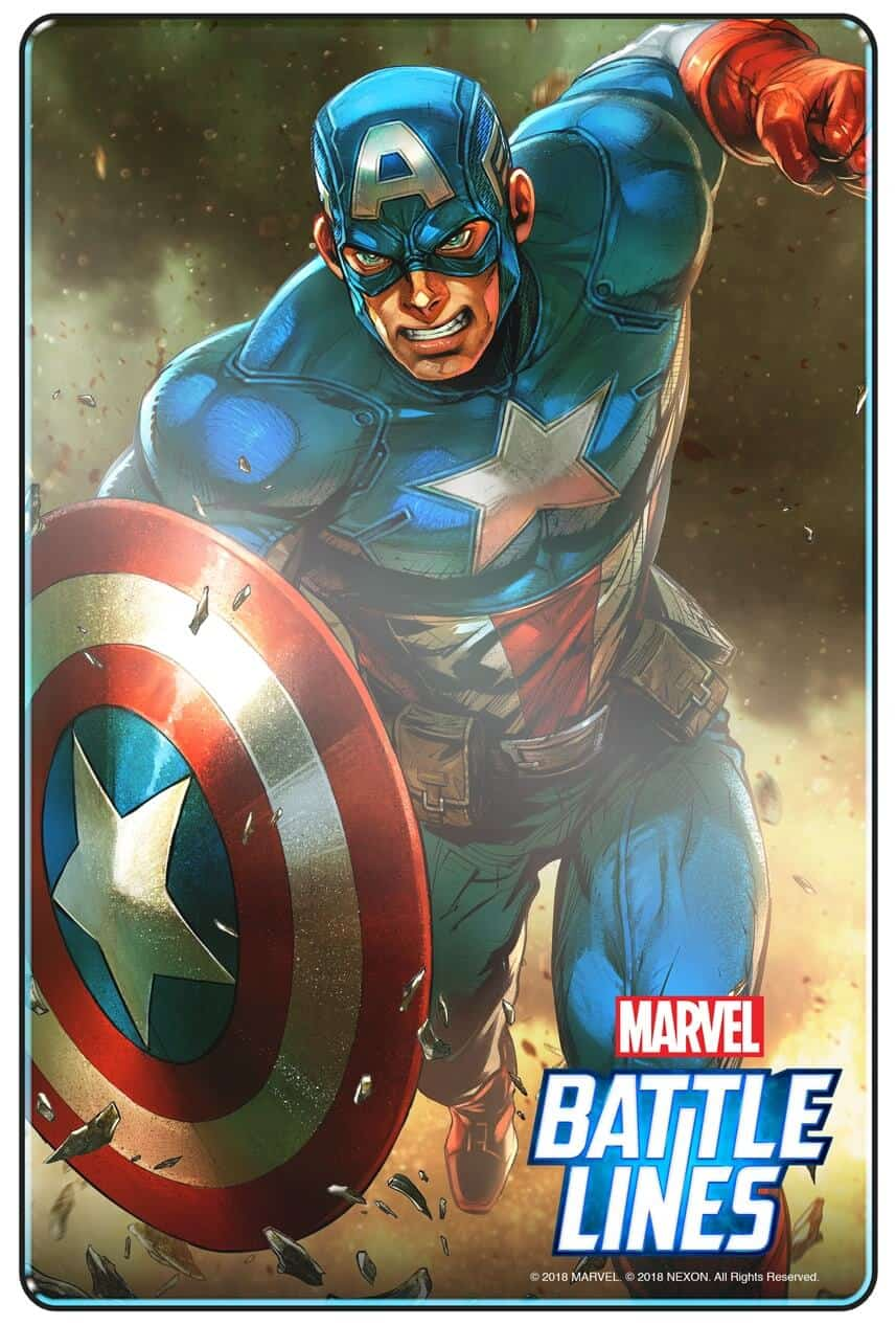 MARVEL BATTLE LINES PRCards CaptainAmerica
