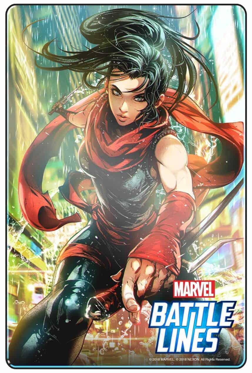 MARVEL BATTLE LINES PRCards Elektra