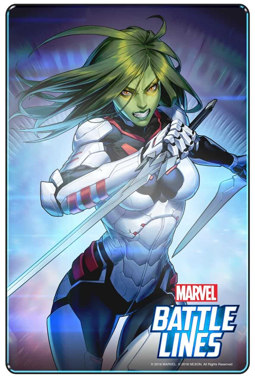 MARVEL BATTLE LINES PRCards Gamora