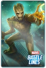 MARVEL BATTLE LINES PRCards Groot