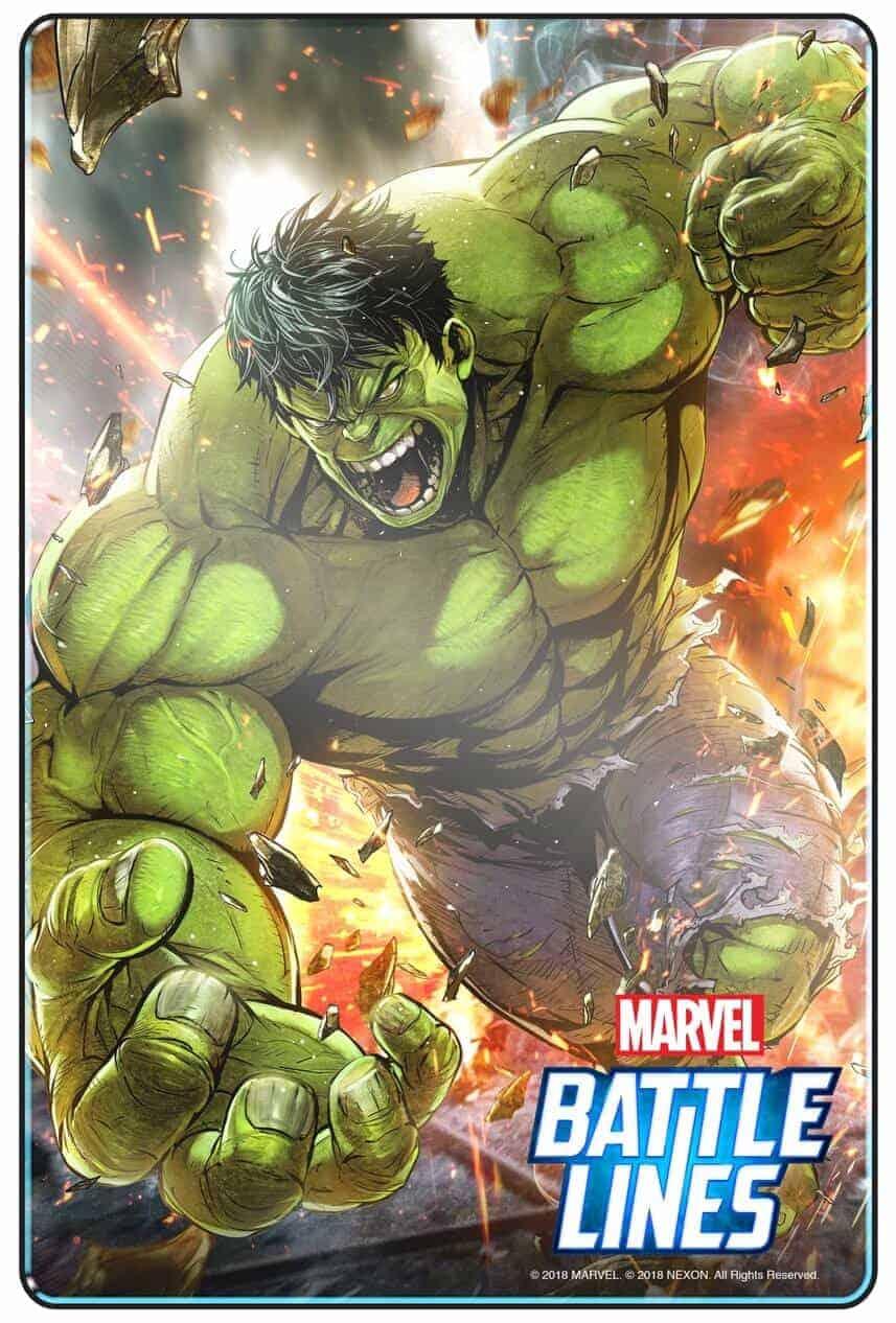 MARVEL BATTLE LINES PRCards Hulk