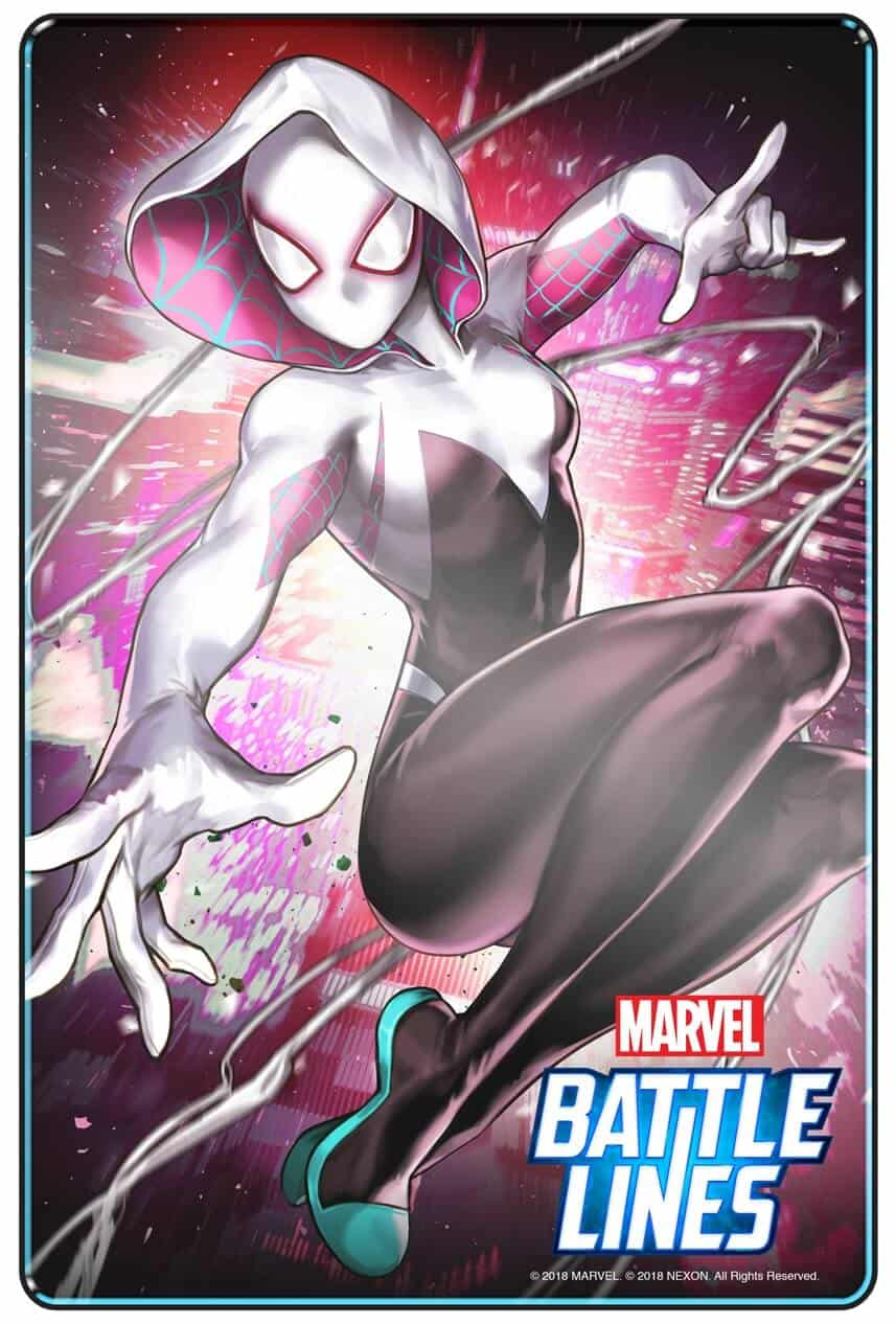 MARVEL BATTLE LINES PRCards SpiderGwen