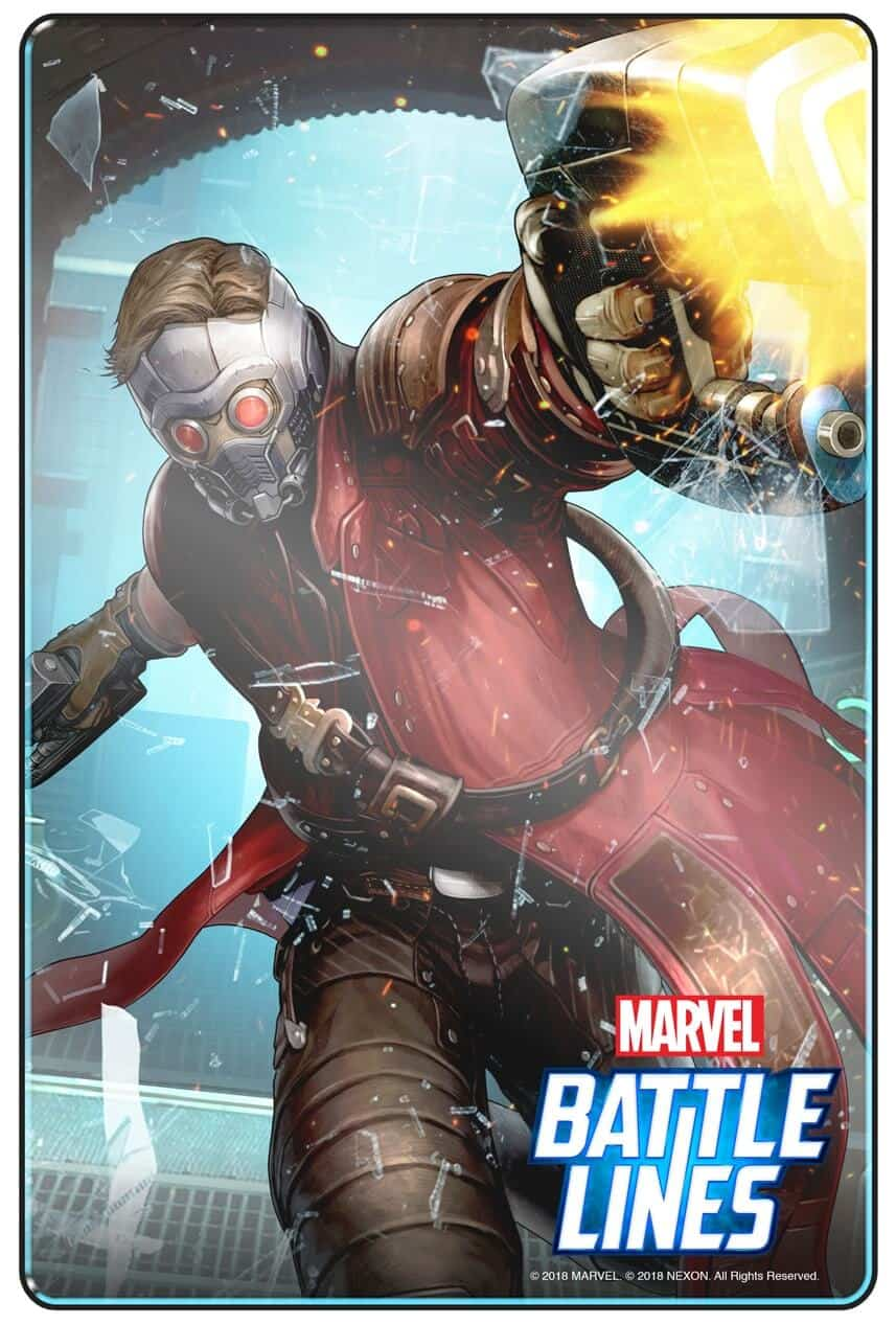 MARVEL BATTLE LINES PRCards Starlord